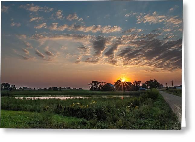 Farmstead Sunrise Greeting Card