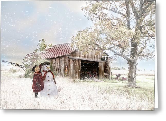 Farmstyle Snowman Greeting Card