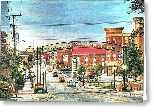 Farmville Va Virginia - Welcome To Historic Farmville Greeting Card by Dave Lynch