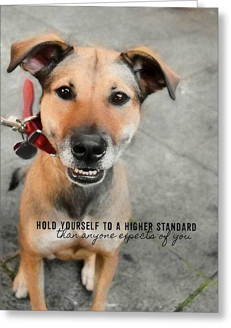 Farrahs Smile Quote Greeting Card by JAMART Photography