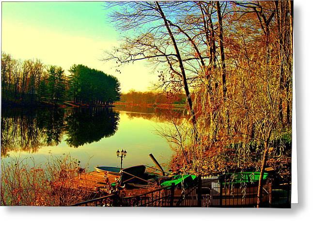Farrington Lake Greeting Card by Aron Chervin