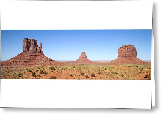 Fascinating Monument Valley Panoramic View Greeting Card