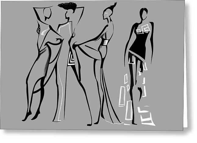 Fashion Abstraction N4 Greeting Card by Gabriela Tasiro