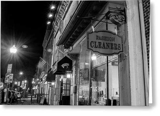 Fashion Cleaners In Fed Hill Greeting Card