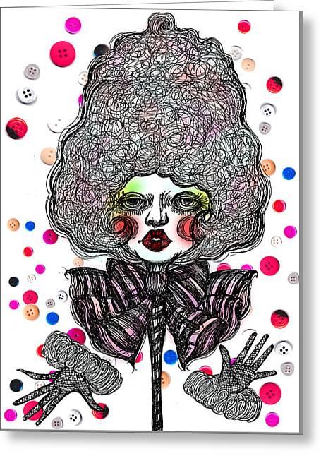 Fashion Doll Greeting Card by Akiko Okabe