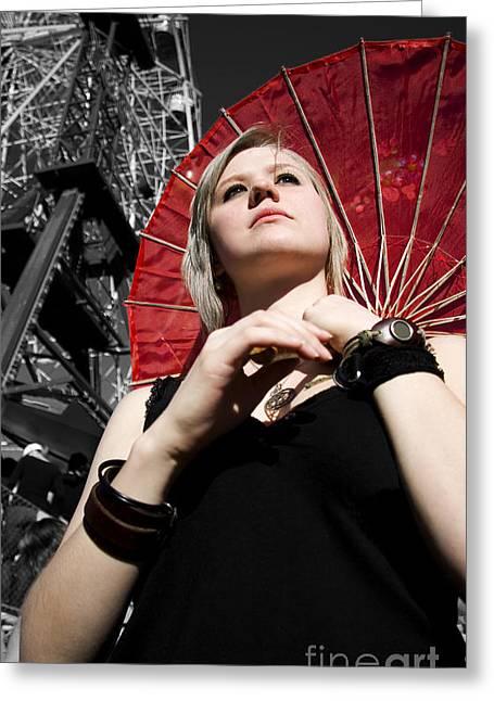 Fashion Fair Female Greeting Card by Jorgo Photography - Wall Art Gallery