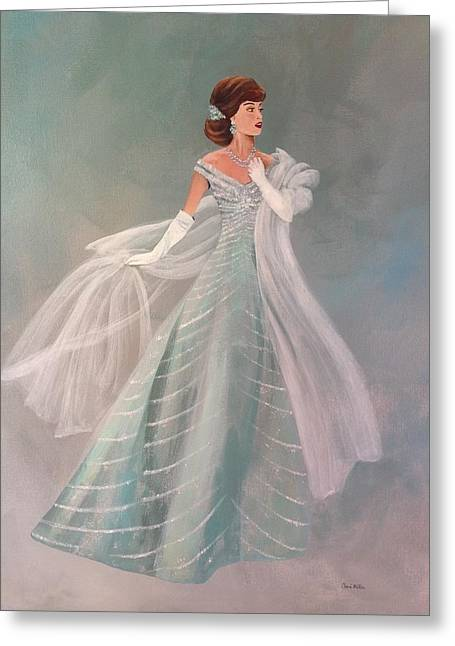 Fashion Illustration Vintage Fashion Fifties Style  Vintage Style Greeting Card by Cheri Miller