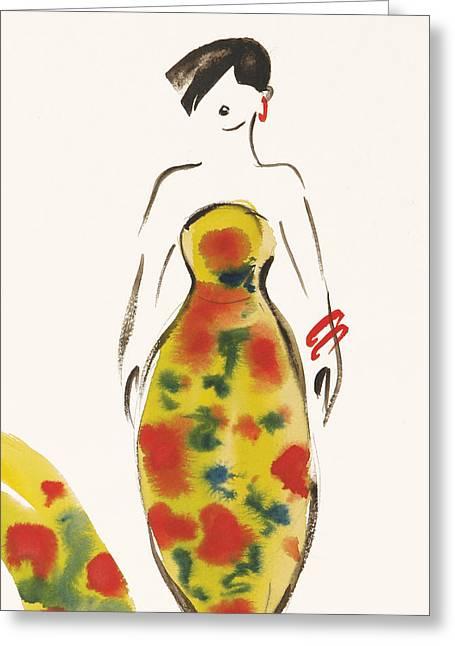 Fashion Iv Greeting Card by Susan Adams