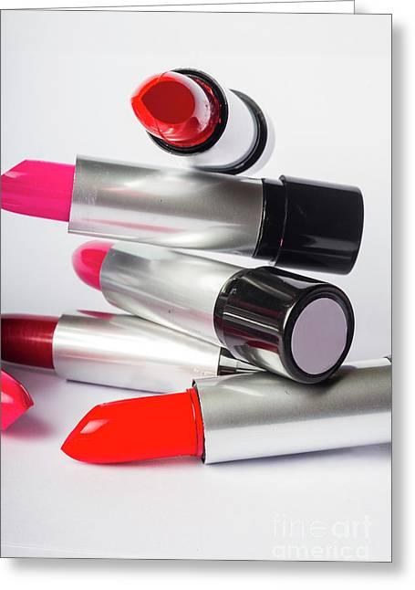 Fashion Model Lipstick Greeting Card