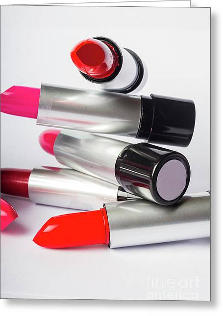 Fashion Model Lipstick Greeting Card