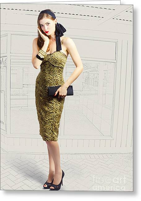 Fashion Photo Illustration Greeting Card