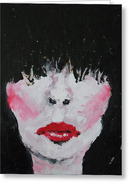 Pale Lipstick Greeting Cards - Fashionista Number Two Greeting Card by Erin O