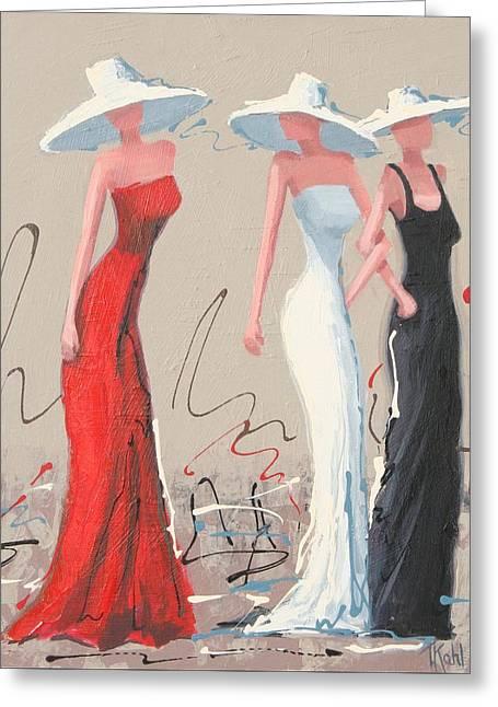 Fashionistas Greeting Card by Thalia Kahl