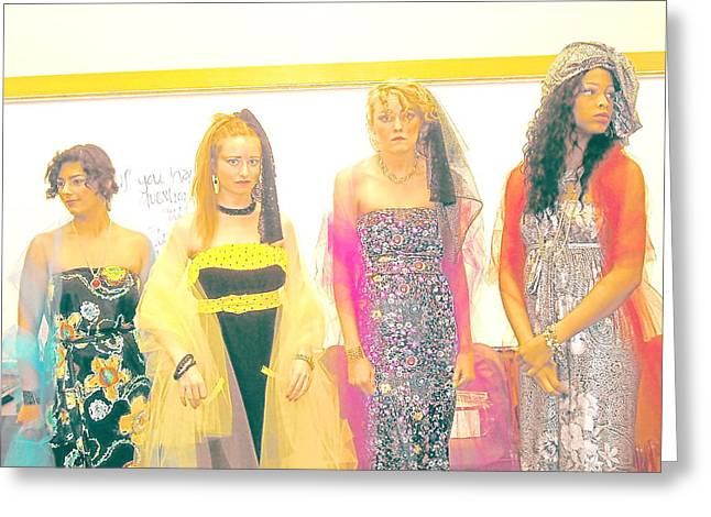 Fashions Designed By Bj Abrams Greeting Card by BJ Abrams