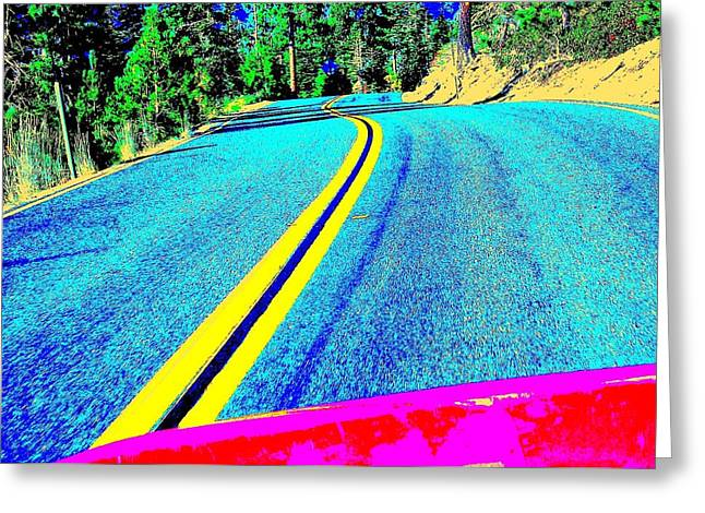 Greeting Card featuring the photograph Fast Ferrari Above Tahoe by Don Struke
