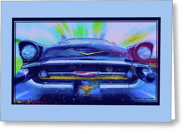 Fast Lane Greeting Card by Marvin Spates