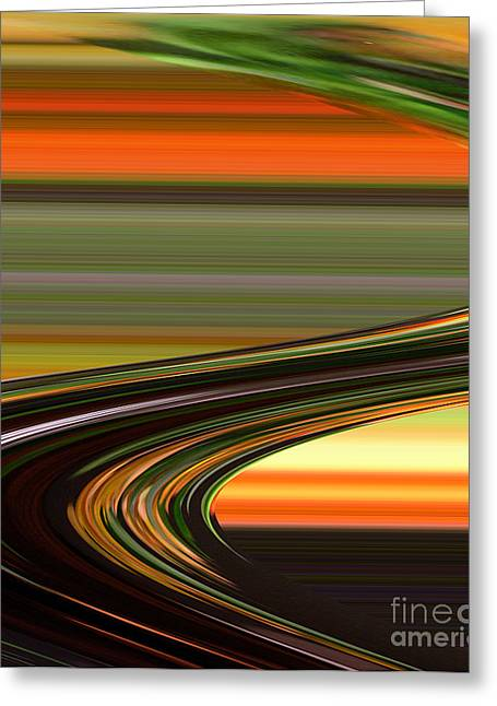 Fast Track Greeting Card by Addie Hocynec