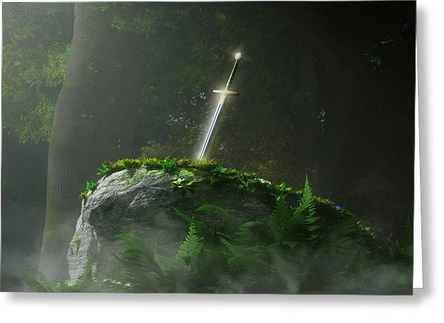 Fate Of A Kingdom Greeting Card by Melissa Krauss
