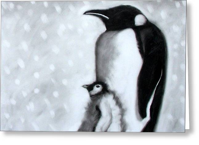 Father And Son Greeting Card by Paul Powis