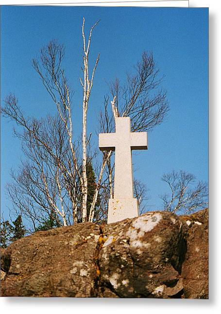 Father Baraga's Cross Greeting Card by C E McConnell