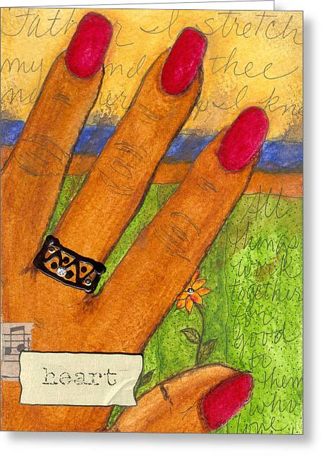 Survivor Art Greeting Cards - Father I Stretch My Hand to THEE Greeting Card by Angela L Walker