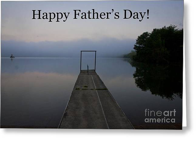 Father's Day Dock Greeting Card by Douglas Stucky