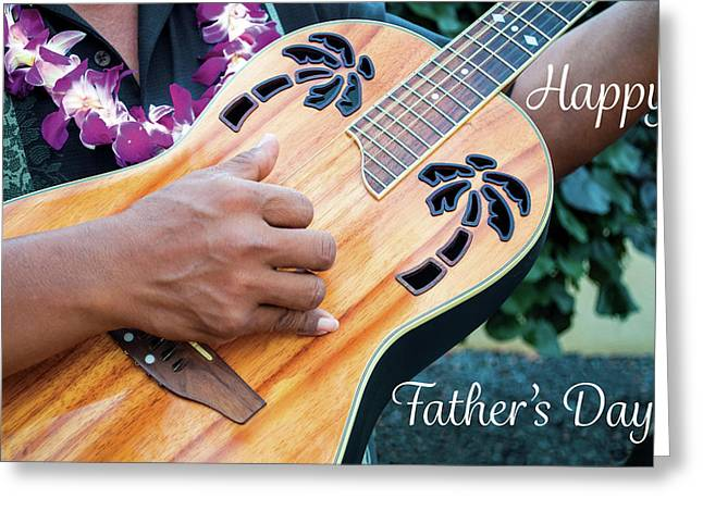 Father's Day Guitar Greeting Card by Denise Bird