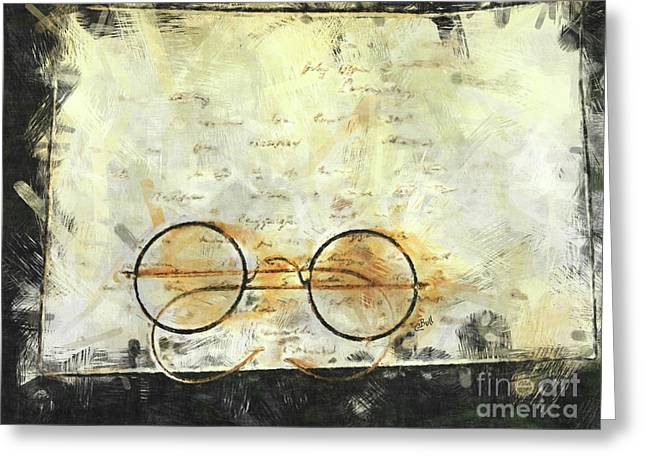 Greeting Card featuring the photograph Father's Glasses by Claire Bull