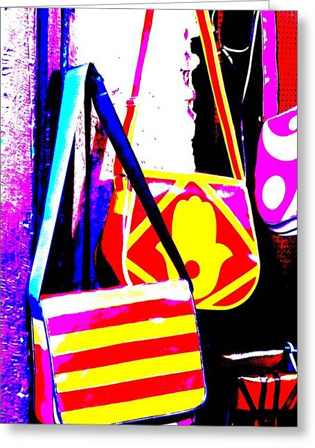 Fatima Bags In Marrakech Greeting Card by Funkpix Photo Hunter