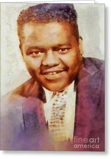 Fats Domino, Music Legend Greeting Card by Sarah Kirk