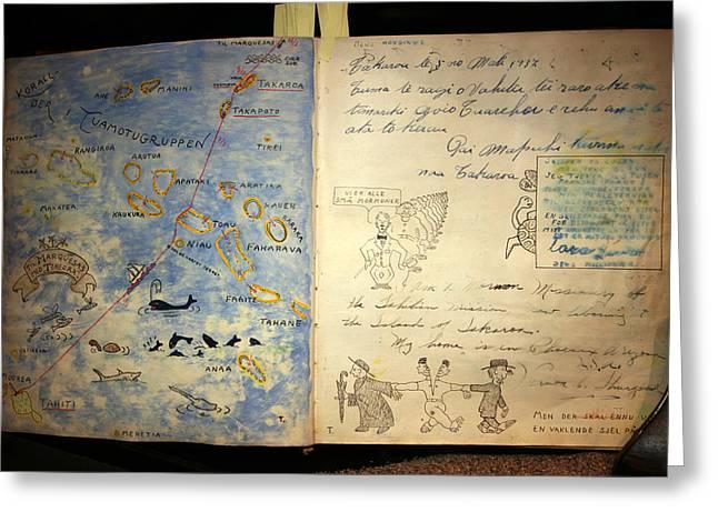 Fatu-hiva Project Diary In Kon-tiki Museum Greeting Card