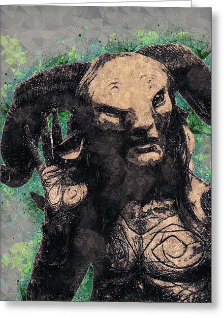 Faun - Pan's Labyrinth  Greeting Card
