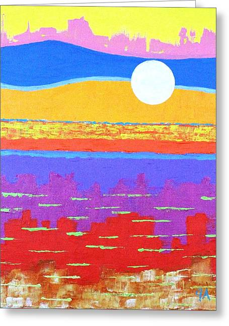 Fauvist Sunset Greeting Card