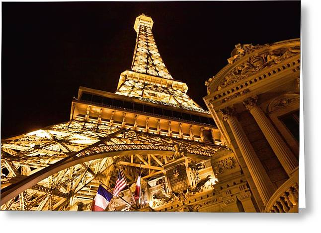Greeting Card featuring the photograph Faux Eiffel by Kim Wilson