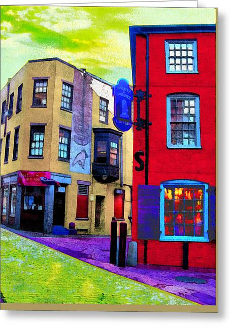 Faux Fauve Cityscape Greeting Card