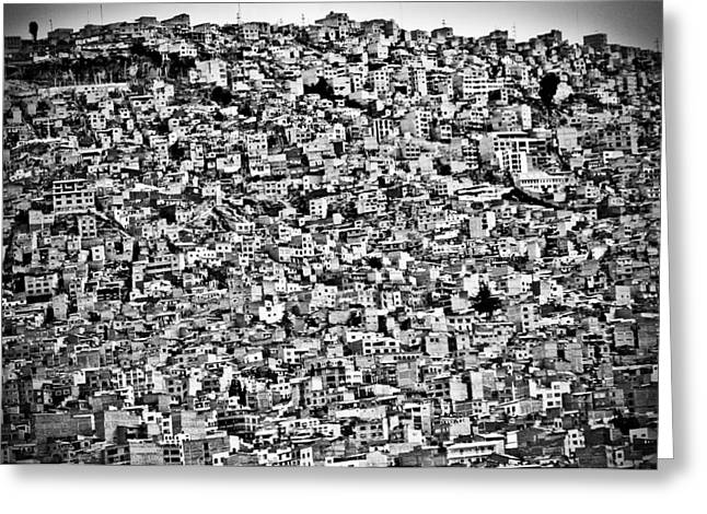 Favela Village In El Alto, La Paz, Bolivia Greeting Card