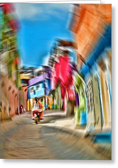 Greeting Card featuring the photograph Favela Vortex by Kim Wilson
