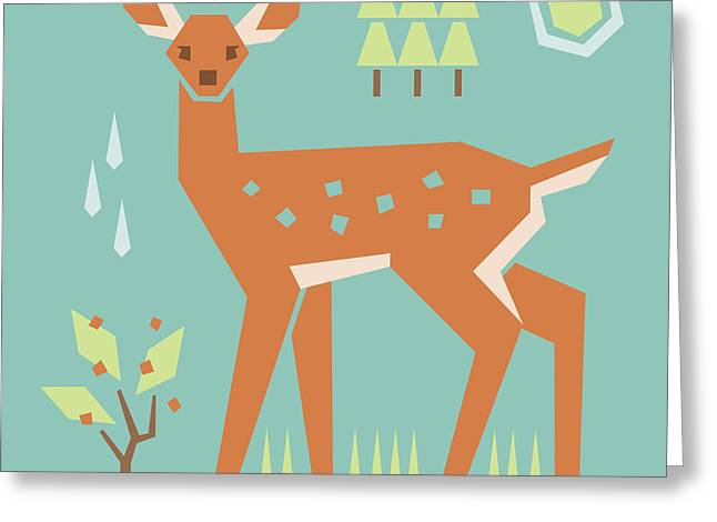 Fawn In The Meadow Greeting Card by Mitch Frey