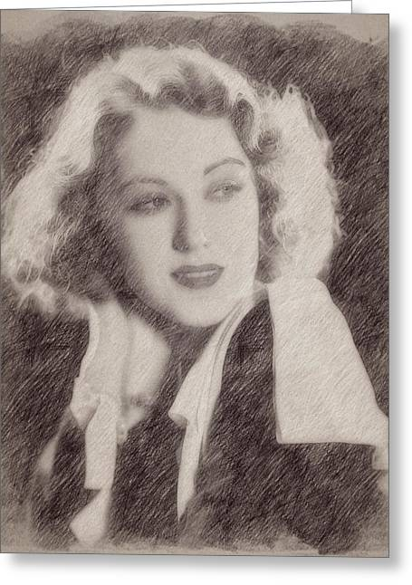 Fay Wray Greeting Card by Esoterica Art Agency