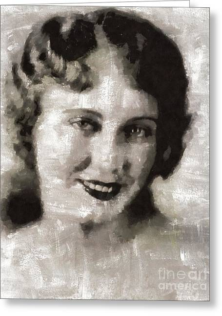 Fay Wray, Vintage Hollywood Actress Greeting Card