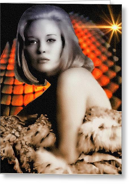Faye Dunaway - Digital Painting Greeting Card