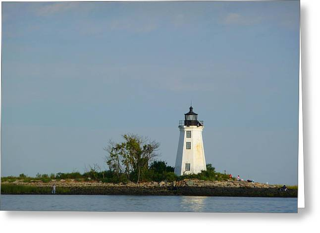 Greeting Card featuring the photograph Fayerweather Lighthouse by Margie Avellino