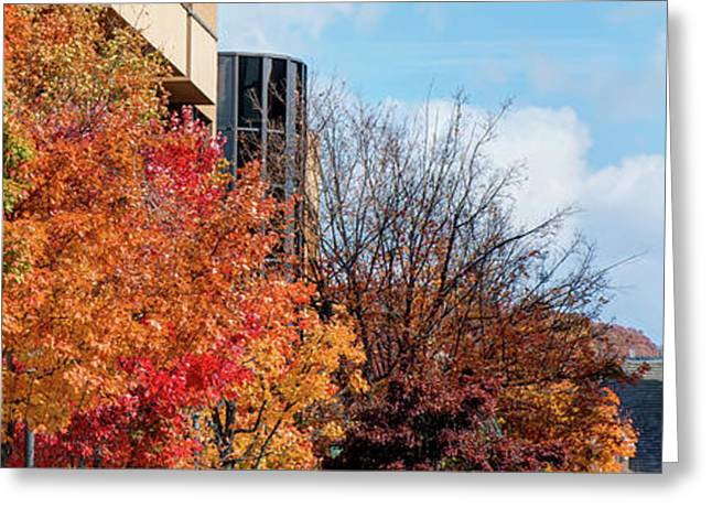 Fayetteville Arkansas Fall Color Cityscape Panorama Greeting Card