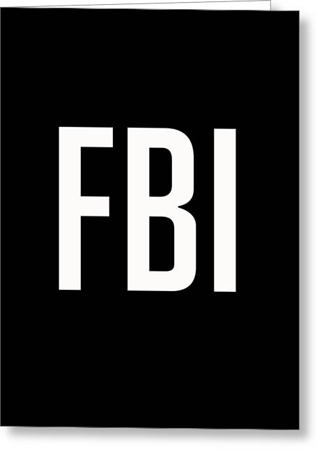 Fbi Tee Greeting Card by Edward Fielding
