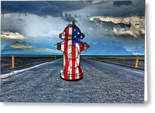 Fch - On The Road 1 Greeting Card by Baltazar Ray