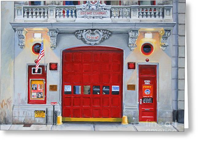 Fdny Engine Company 65 Greeting Card by Paul Walsh