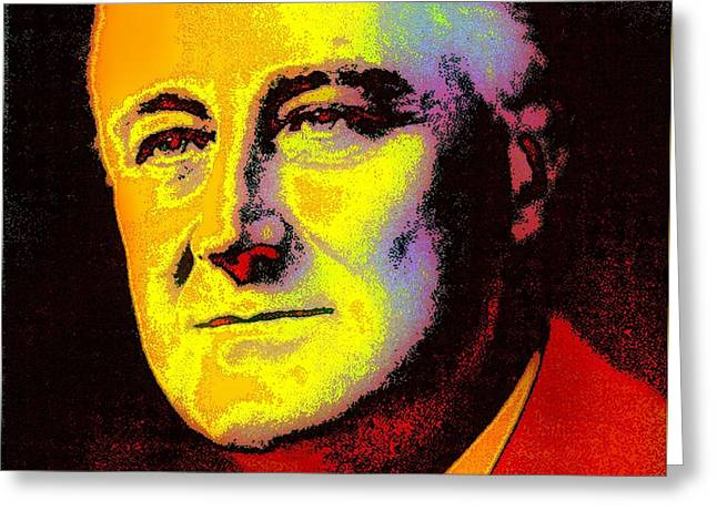 FDR Greeting Card by Otis Porritt