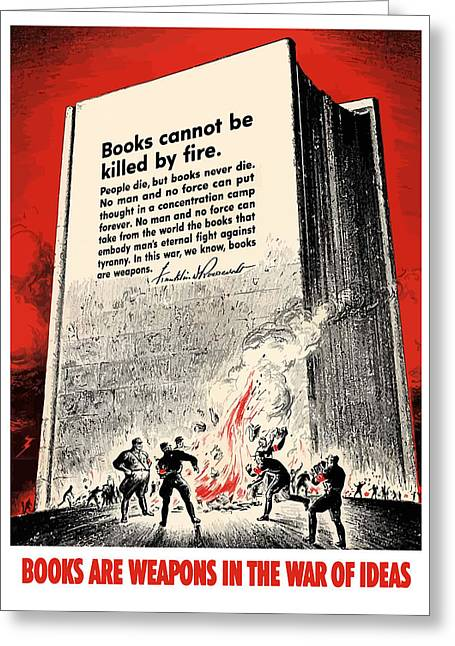 Fdr Quote On Book Burning  Greeting Card