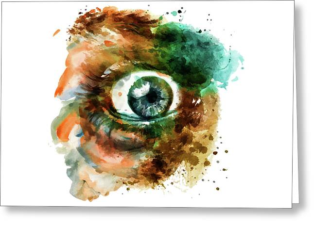 Fear Eye Watercolor Greeting Card