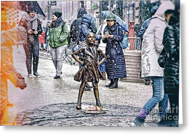 Fearless Girl 2 Greeting Card